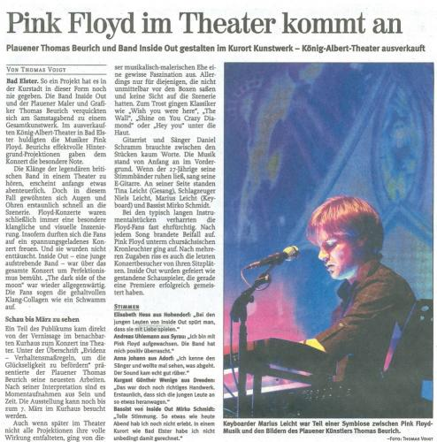 Pink Floyd im Theater kommt an